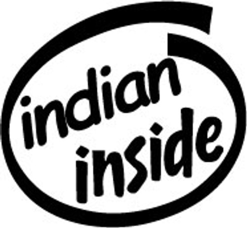 Indian Inside Vinyl Decal High glossy, premium 3 mill vinyl, with a life span of 5 - 7 years!