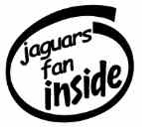 Jaguars Fan Inside Vinyl Decal High glossy, premium 3 mill vinyl, with a life span of 5 - 7 years!
