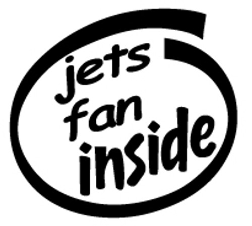 Jets Fan Inside Vinyl Decal High glossy, premium 3 mill vinyl, with a life span of 5 - 7 years!
