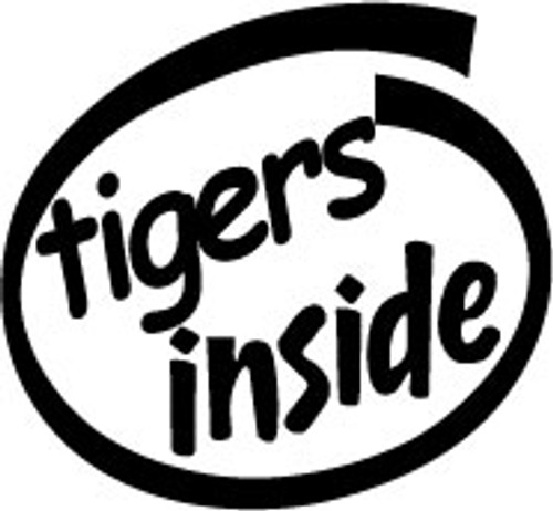 Tigers Inside Vinyl Decal High glossy, premium 3 mill vinyl, with a life span of 5 - 7 years!