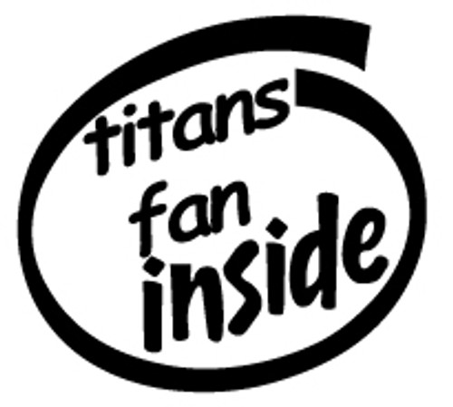 Titans Fan Inside Vinyl Decal High glossy, premium 3 mill vinyl, with a life span of 5 - 7 years!