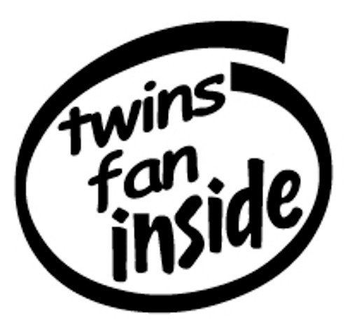 Twins Fan Inside Vinyl Decal High glossy, premium 3 mill vinyl, with a life span of 5 - 7 years!