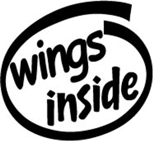 Wings Inside Vinyl Decal High glossy, premium 3 mill vinyl, with a life span of 5 - 7 years!