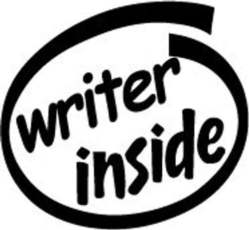 Writer Inside Vinyl Decal High glossy, premium 3 mill vinyl, with a life span of 5 - 7 years!