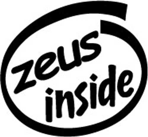 Zeus Inside Vinyl Decal High glossy, premium 3 mill vinyl, with a life span of 5 - 7 years!