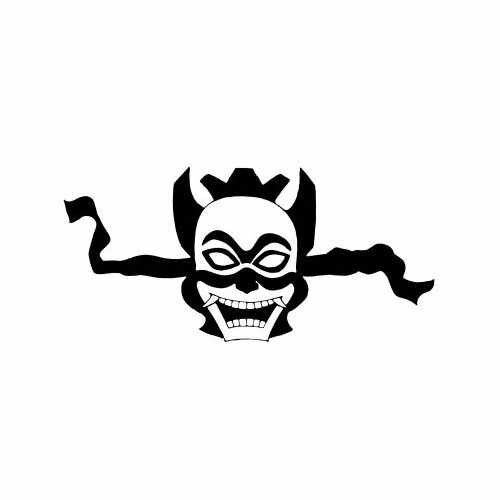 Avatar Mask  Vinyl Decal Sticker  Size option will determine the size from the longest side Industry standard high performance calendared vinyl film Cut from Oracle 651 2.5 mil Outdoor durability is 7 years Glossy surface finish