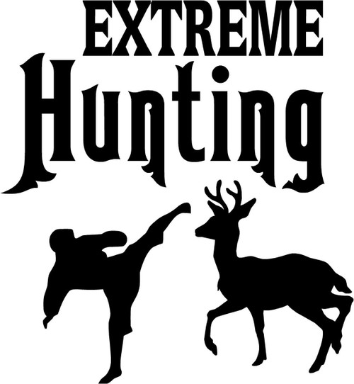 Extreme Hunting Deer Vinyl Decal Sticker High glossy, premium 3 mill vinyl, with a life span of 5 - 7 years!