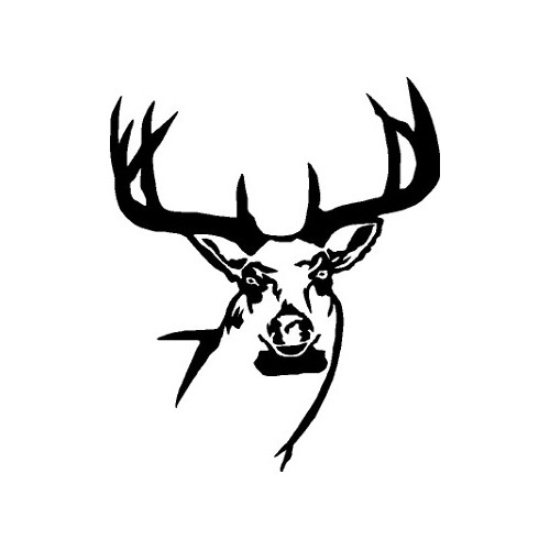 Big Buck With Rack  Vinyl Decal High glossy, premium 3 mill vinyl, with a life span of 5 - 7 years!