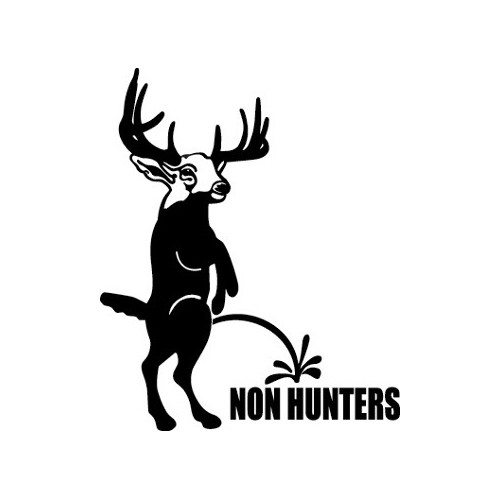 Buck  Non Hunters  Vinyl Decal High glossy, premium 3 mill vinyl, with a life span of 5 - 7 years!