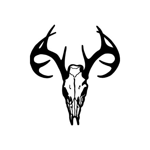 Buck  Skull Rack v3  Vinyl Decal High glossy, premium 3 mill vinyl, with a life span of 5 - 7 years!