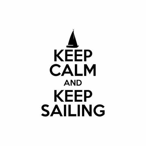 Keep Calm And Keep Sailing Vinyl Decal Sticker Size option will determine the size from the longest side Industry standard high performance calendared vinyl film Cut from Oracle 651 2.5 mil Outdoor durability is 7 years Glossy surface finish