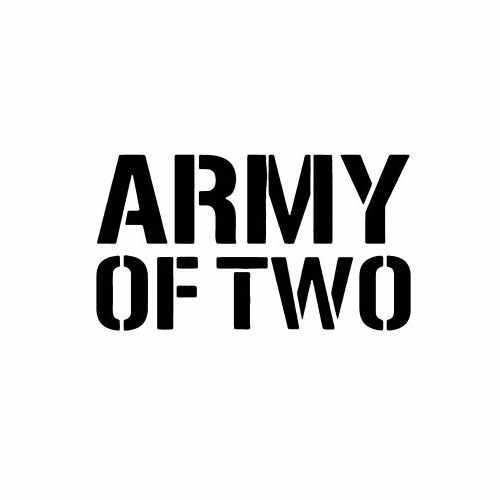 Army Of Two  Vinyl Decal Sticker  Size option will determine the size from the longest side Industry standard high performance calendared vinyl film Cut from Oracle 651 2.5 mil Outdoor durability is 7 years Glossy surface finish