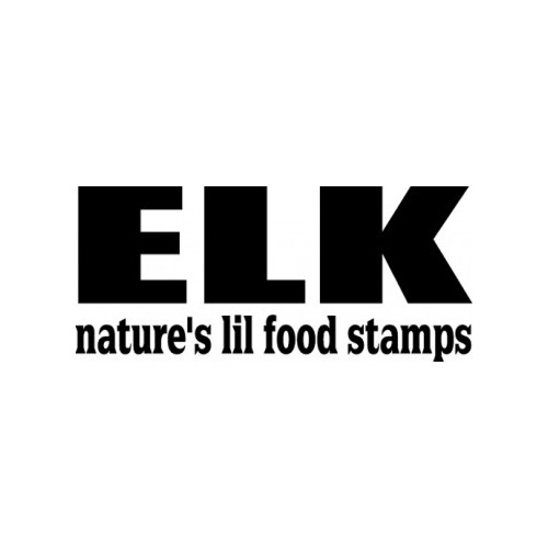 Elk Nature's Lil Food Stamps  Vinyl Decal High glossy, premium 3 mill vinyl, with a life span of 5 - 7 years!