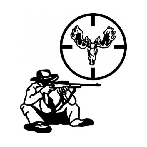 Hunter & Crosshair  ver 4 Vinyl Decal High glossy, premium 3 mill vinyl, with a life span of 5 - 7 years!