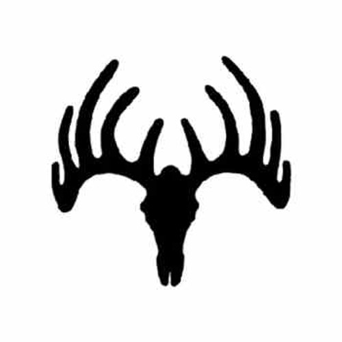Moose Skull  Vinyl Decal High glossy, premium 3 mill vinyl, with a life span of 5 - 7 years!