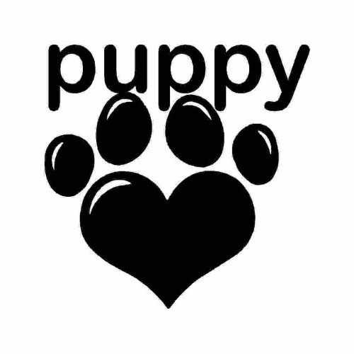 Animal Puppy Love  Vinyl Decal Sticker  Size option will determine the size from the longest side Industry standard high performance calendared vinyl film Cut from Oracle 651 2.5 mil Outdoor durability is 7 years Glossy surface finish