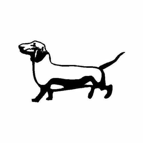 Animal Dachshund 1  Vinyl Decal Sticker  Size option will determine the size from the longest side Industry standard high performance calendared vinyl film Cut from Oracle 651 2.5 mil Outdoor durability is 7 years Glossy surface finish