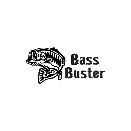Bass Buster Vinyl Decal High glossy, premium 3 mill vinyl, with a life span of 5 - 7 years!
