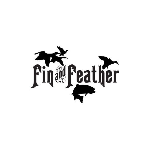 Fin and Feather Vinyl Decal High glossy, premium 3 mill vinyl, with a life span of 5 - 7 years!