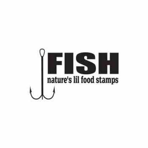 Fish Hook Vinyl Decal High glossy, premium 3 mill vinyl, with a life span of 5 - 7 years!
