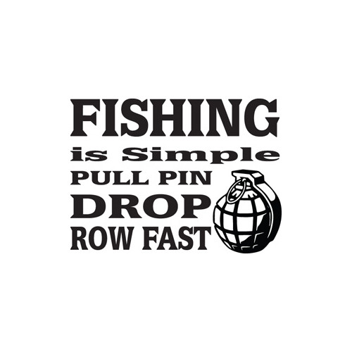 Fishing is Simple Vinyl Decal High glossy, premium 3 mill vinyl, with a life span of 5 - 7 years!