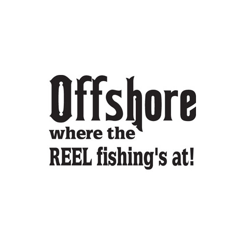 Offshore Fishing Vinyl Decal High glossy, premium 3 mill vinyl, with a life span of 5 - 7 years!