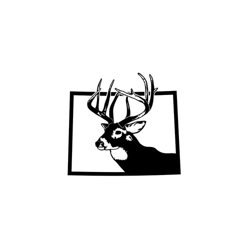 Colorado Deer Hunting   Vinyl Decal High glossy, premium 3 mill vinyl, with a life span of 5 - 7 years!