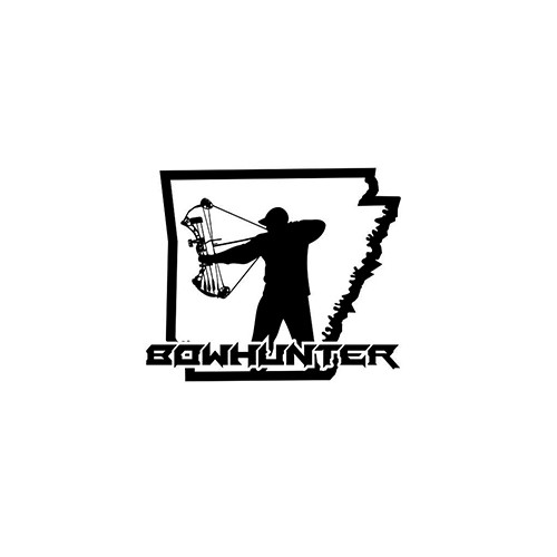 Arkansas Bowhunter ver3   Vinyl Decal High glossy, premium 3 mill vinyl, with a life span of 5 - 7 years!