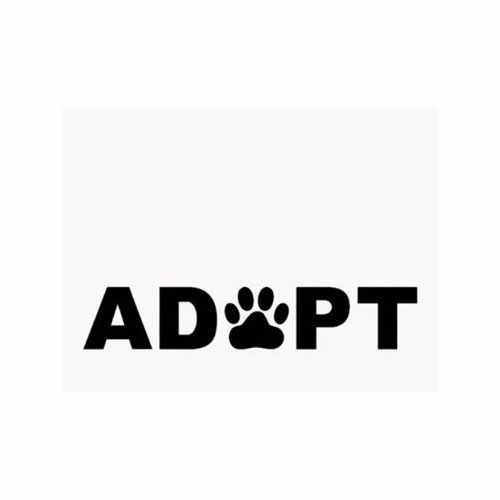 Adopt-Dog-Cat-Paw-Print  Vinyl Decal Sticker  Size option will determine the size from the longest side Industry standard high performance calendared vinyl film Cut from Oracle 651 2.5 mil Outdoor durability is 7 years Glossy surface finish