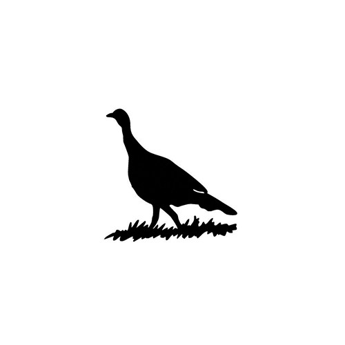 Turkey Silhouette ver2   Vinyl Decal High glossy, premium 3 mill vinyl, with a life span of 5 - 7 years!