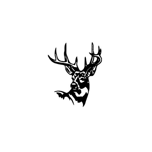 Deer Head verver1ver1   Vinyl Decal High glossy, premium 3 mill vinyl, with a life span of 5 - 7 years!
