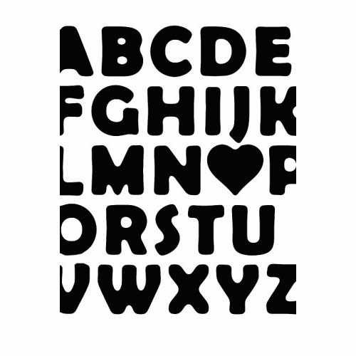 Abc Love  Vinyl Decal Sticker  Size option will determine the size from the longest side Industry standard high performance calendared vinyl film Cut from Oracle 651 2.5 mil Outdoor durability is 7 years Glossy surface finish