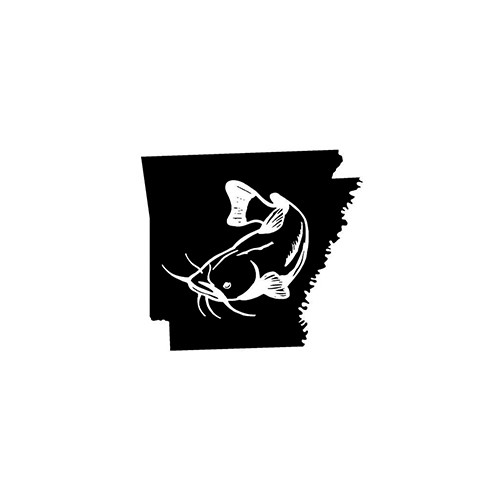 Arkansas Catfish   Vinyl Decal High glossy, premium 3 mill vinyl, with a life span of 5 - 7 years!