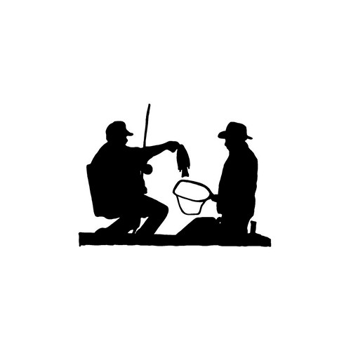 ver2 Fisherman Silhouette   Vinyl Decal High glossy, premium 3 mill vinyl, with a life span of 5 - 7 years!