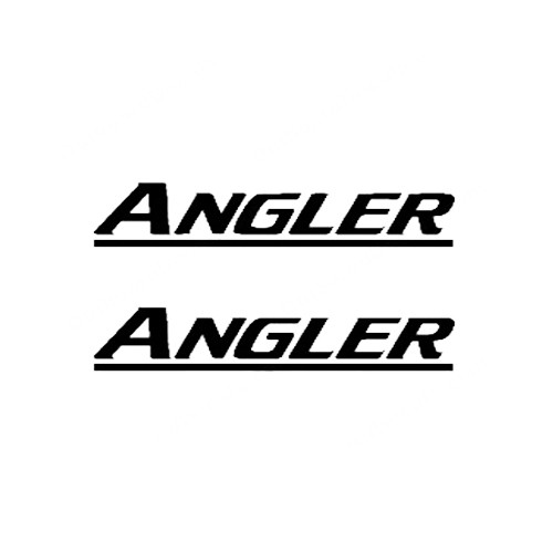 Angler New Style Boat Vinyl Decal Kit High glossy, premium 3 mill vinyl, with a life span of 5 - 7 years!