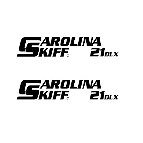Carolina Skiff 21 DLX  Boat Vinyl Decal Kit High glossy, premium 3 mill vinyl, with a life span of 5 - 7 years!
