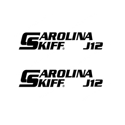 Carolina Skiff J12  Boat Vinyl Decal Kit High glossy, premium 3 mill vinyl, with a life span of 5 - 7 years!