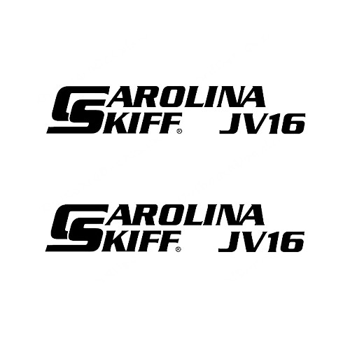 Carolina Skiff JV16  Boat Vinyl Decal Kit High glossy, premium 3 mill vinyl, with a life span of 5 - 7 years!