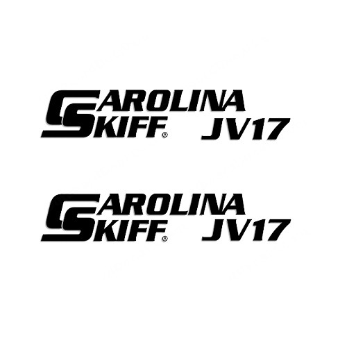 Carolina Skiff JV17  Boat Vinyl Decal Kit High glossy, premium 3 mill vinyl, with a life span of 5 - 7 years!