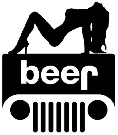 Jeep Sexy Girl Beer
