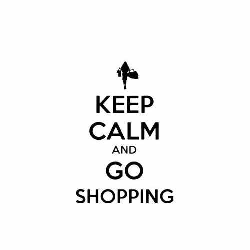 Keep Calm And Go Shopping Vinyl Decal Sticker Size option will determine the size from the longest side Industry standard high performance calendared vinyl film Cut from Oracle 651 2.5 mil Outdoor durability is 7 years Glossy surface finish