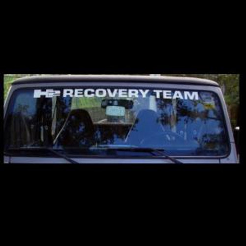 Jeep H2 Recovery Team Vinly Window Decal High glossy, premium 3 mill vinyl, with a life span of 5 - 7 years!