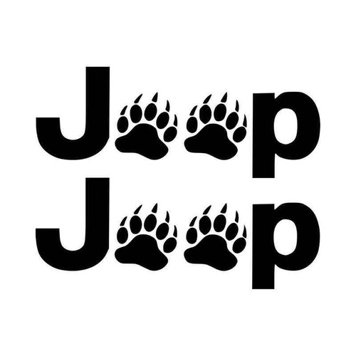Jeep Wrangler Side Fender Decal set of 2 Bear Claws