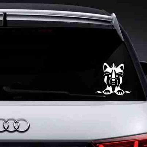 Cute Yorkshire Dog Vinyl Decal Sticker High glossy, premium 3 mill vinyl, with a life span of 5 - 7 years!