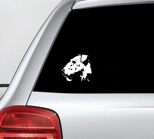 Aierdale Terrier Dog Head Vinyl Decal Sticker High glossy, premium 3 mill vinyl, with a life span of 5 - 7 years!