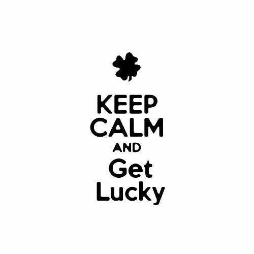 Keep Calm And Get Lucky Vinyl Decal Sticker Size option will determine the size from the longest side Industry standard high performance calendared vinyl film Cut from Oracle 651 2.5 mil Outdoor durability is 7 years Glossy surface finish