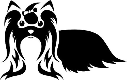 Shih Tzu Dog Cute Vinyl Decal Sticker High glossy, premium 3 mill vinyl, with a life span of 5 - 7 years!