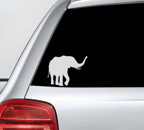 African Elephant Vinyl Decal Sticker High glossy, premium 3 mill vinyl, with a life span of 5 - 7 years!