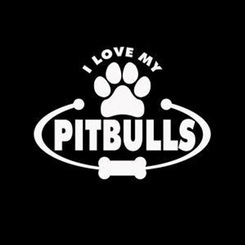 Love my Pitbulls Dog  Decal High glossy, premium 3 mill vinyl, with a life span of 5 - 7 years!