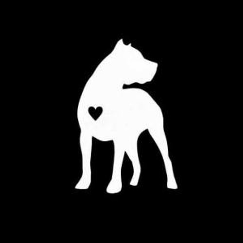 Pitbull Pit Bull Heart  Decal High glossy, premium 3 mill vinyl, with a life span of 5 - 7 years!